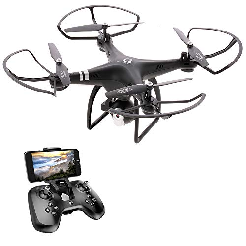 Goolsky Dongmingtuo X8 FPV WiFi Drone, 2.4GHz 4CH RC Drone with 720P Camera, 3D Flip, Headless Mode, Altitude Hold, RC Quadcopter for Kids and Adults (Black)