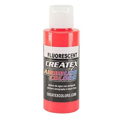 Airbrush Paint - Createx Airbrush Colours - 5408 Fluorescent Red (60ml 2oz)