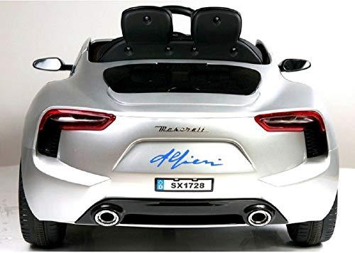 MINICARS Maserati Alfieri 126 cm Argent Voiture électrique pour Enfants