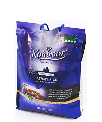 Kohinoor Extra Aromatisierter Indischer Basmati-Reis für Biryani & Curry-Gerichte - 5kg Beutel