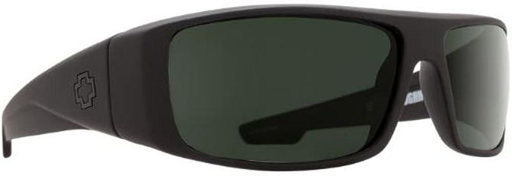 Spy Logan Sunglasses Matte Black With Happy Gray Green Polarized Lens