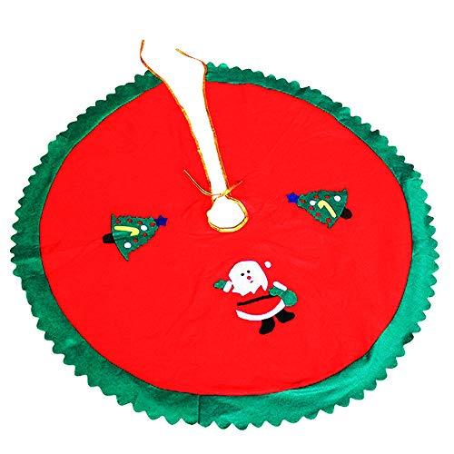 WELLXUNK Cubierta De Base Arbol Navidad, Decoración De Falda De Navidad, Navidad...
