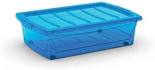 Kis 8631000 0188 04 Boîte de Rangement Spinning Box 30 litres en Bleu, Plastique, 58,5x39x16 cm