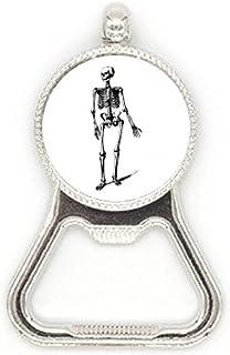 Lopen Menselijke Skelet Schets Metalen Bier Fles Cap Opener Duty Roestvrij staal