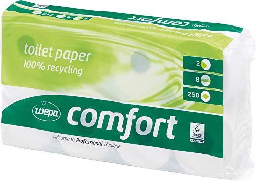 WEPA Toil.papier WEPAComfort 2 lg weiss 64 Rollen