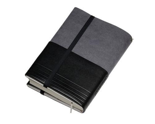 フリーサイズブックカバー[アマネカ・クラシック]ブラックAM01-BK