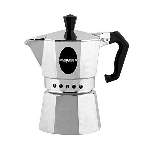 Aeternum 5973 Morenita Espressokocher aus Aluminium für 6 Tasse, silber