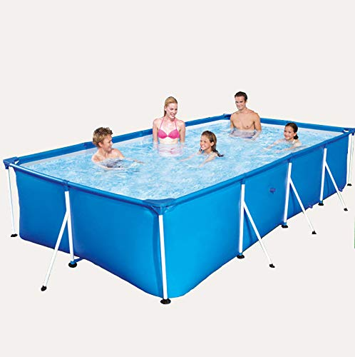 Weehomy Piscina familiar de 260 x 160 x 65 cm, rectangular, fácil de montar, color azul