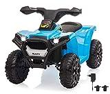 Jamara 460866 Ride On Mini Quad Runty – leistungsstarker Antriebsmotor/Akku für bis 120 Min. Fahrzeit, Max. 25KG, kurz untersetztes Getriebe für kräftigen Vortrieb, Sound, Licht vorne,...