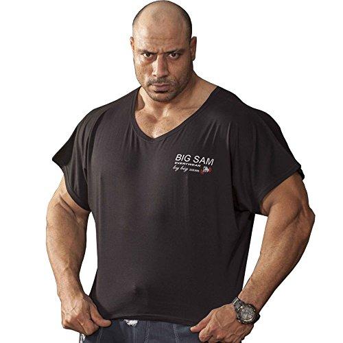 BIG SM EXTREME SPORTSWEAR Herren Ragtop Rag Top Sweater T-Shirt Bodybuilding 3036 schwarz XL
