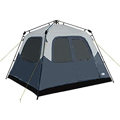 Pacific Pass Camping Tent 6 Person Instant Cabin Family Tent, Easy Set Up for Camp Backpacking Hiking Outdoor