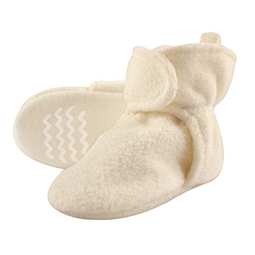 Hudson Baby Unisex Cozy Fleece Booties, Cream, 0-6 Months