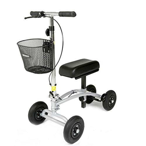 Orthomate Knee Scooter with Basket Pneumatic tyres for a...
