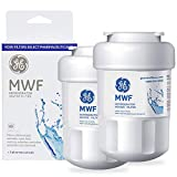 MWF Water Filter for GE Refrigerator Replacement Smartwater Compatible with MWF,MWFP, MWFA,MWFINT,GWF Refrigerator Cartridge with GE MWF Refrigerator Water Filter(2 Pack)