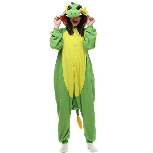 Schlafanzug Violet Elf Kigurumi Pyjamas Cartoon Kostüm Tier Onesies Für Männer Frauen Paar Einteilige Pyjama Lustige Fleece Pyjamas Overalls-Drachen_S.