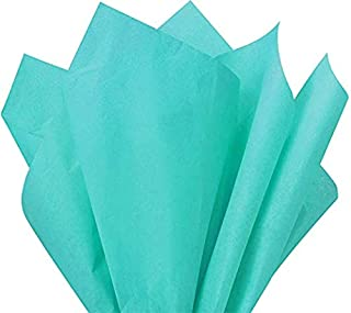 Flexicore Packaging |Caribbean Teal Gift Wrap Tissue Paper | Size: 15 Inch X 20 Inch | Count: 10 Sheets | Color: Caribbean Teal | DIY Craft, Art, Wrapping, Crepe, Decorations, Pom Pom, Packing & Party