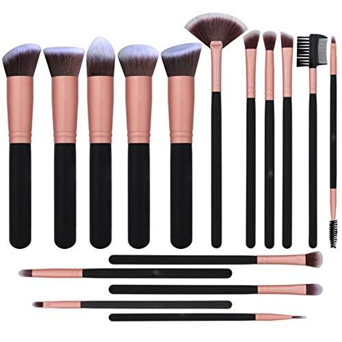 CNmuca Conjunto de pincéis de maquiagem Conjunto avançado de pincel sintético para blush facial corretivo de sombra para os olhos Conjunto de pincéis de maquiagem Ferramenta de maquiagem ouro rosa