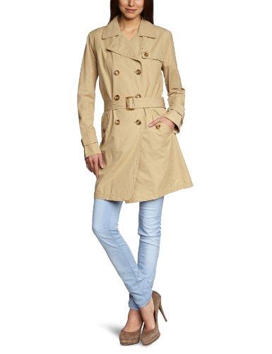 Geox Damen Trench Coat Regular Fit W3220FT1815F5013, Gr. 44 (I 50), Beige (Dune F5013)