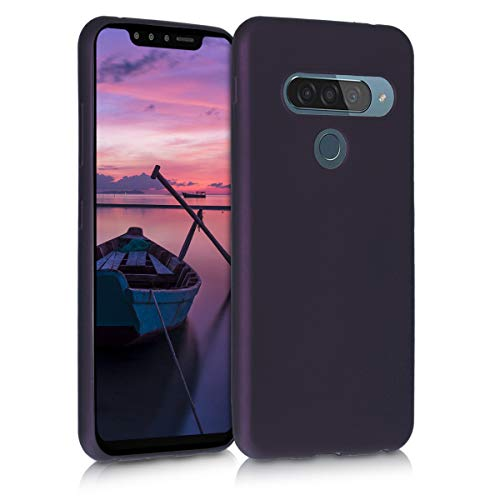kwmobile LG G8s ThinQ Hülle - Handyhülle für LG G8s ThinQ - Handy Case in Metallic Brombeere