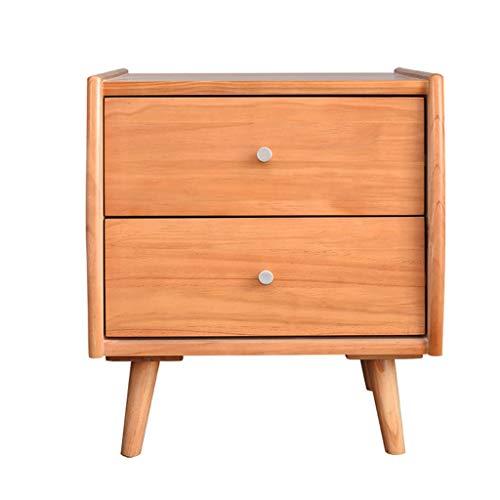 Mesa Auxiliar Mesita de noche de madera maciza nórdica dormitorio Mesita de luz Gabinete de almacenamiento hogar moderno minimalista pequeña mesita de noche con cajón Mesa para Sofá ( Color : B )