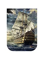 Sea Sailboat Scenery Wave Painting Art Needlework 14Ct Canvas Unprinted Handmade Embroidery Cross Stitch Kits Diy Home Decor-In Package,14Ct White Canvas