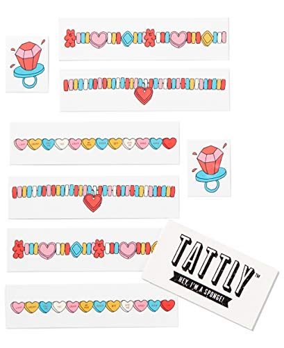 TATTLY Arm Candy Temporary Tattoo Set 8 Fake Tattoos by Real Artists Scented 1 Sponge