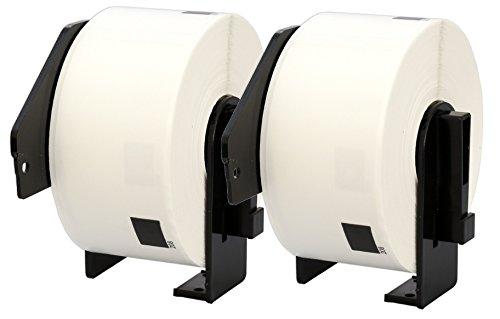 Preisvergleich Produktbild 2X DK-11208 38 x 90 mm Adressetiketten (400 Stück / Rolle) kompatibel für Brother P-Touch QL-1050 QL-1060N QL-1110NWB QL-1100 QL-500 QL-500BW QL-570 QL-580 QL-700 QL-710W QL-800 QL-810W QL-820NWB