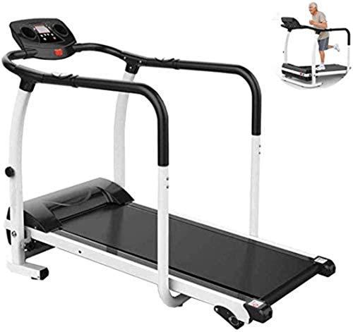 Cinta de correr plegable para correr y máquinas eléctricas, motorizada plana, equipo de fitness, running, andar motorizado. Tamaño de la máquina: 128 x 60 x 115 cm.