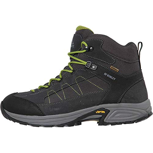 McKINLEY Herren Trekkingstiefel Denali Mid AQX II Trekking-& Wanderstiefel, Grau (Grey Dark/Green LIM 000), 44 EU