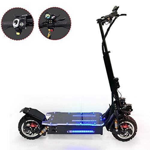 Elektroscooter/Elektrisches Fahrrad, Zusammenklappbar Luftfahrt Aluminiumkörper und Buntes Acrylpedal, Hydraulische Scheibenbremse,TopQualität,Dual Drive,Mountain-20A/60km