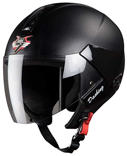 Steelbird SBH-5 7Wings Natural Open Face Helmet with Plain Visor (Medium 580...