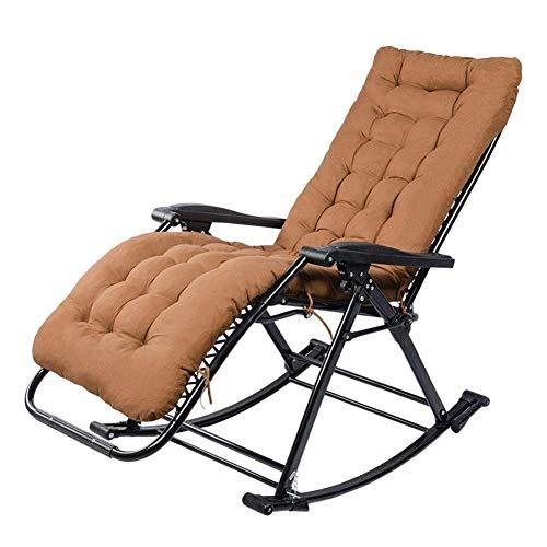 Fotel bujany na zewnątrz dla dorosłych o dużej wytrzymałości - taras balkonowy Patio Bujak ogrodowy z poduszką, podporą 200 kg (kolor: czarny)