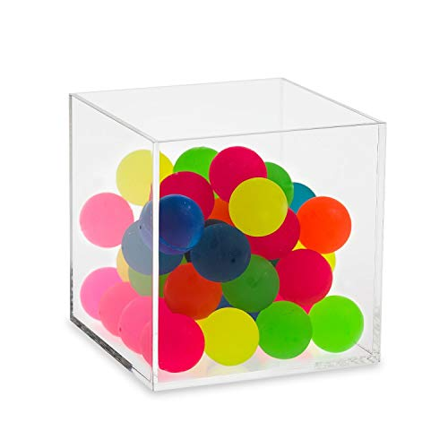 Source One 5 Sided Clear Acrylic Gift Shop Bins Toys Goodies Counter Top Displays