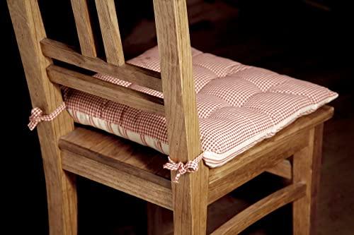 Galette de chaise carrée Campagne COMPTOIR DE FAMILLE