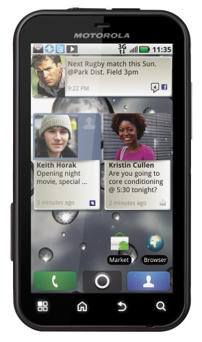 Motorola Defy Smartphone (9,4 cm (3,7 Zoll) Touchscreen, 5 MP Kamera, Android 2.2 OS, wassergeschützt, staubdicht) schwarz