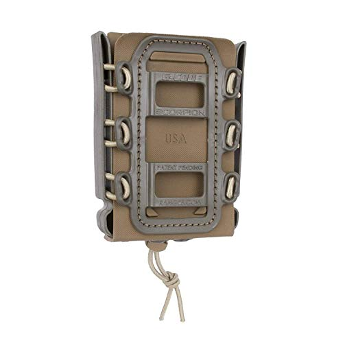 G-CODE Rifle Soft Shell Scorpion Mag Carrier (TAN and OD Green) with Molle Mount Attachment 100% Made in USA
