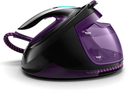Philips GC9675/80 PerfectCare Elite Plus-Centro de Planchado (2700 W, Optimal Temp, 7,7 Bar, 550 g/min. Golpe de Vapor, Extremadamente Ligero y silencioso), Color Violeta, Morado