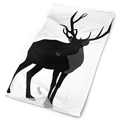 Silueta de ciervos aislada en animal elástica costura, pañuelo versátil deportivo e informal, 24 x 50 cm
