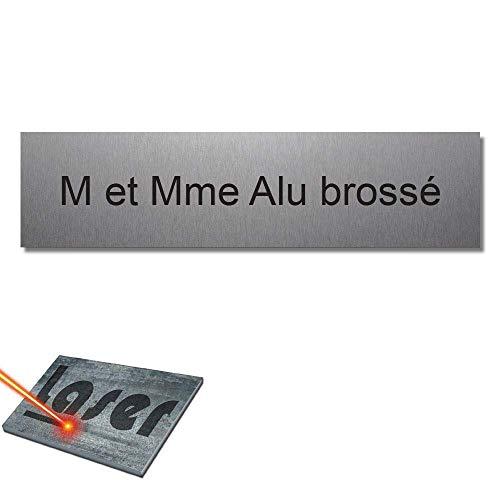 Mygoodprice - Placa para buzón autoadhesiva y personalizable de 10 x 2,5 cm, 1-3 líneas