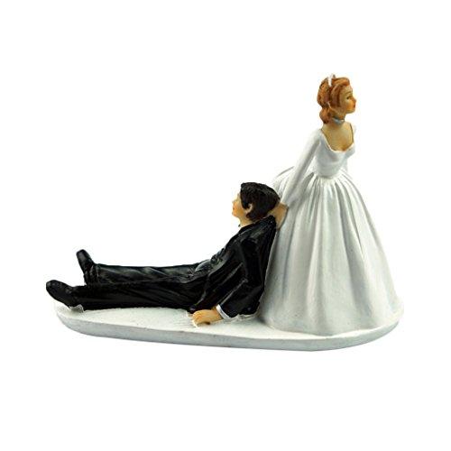 Morza Divertente Sposa Sposo Figurine Follie di favori Unico Regalo Wedding Cake Toppers Decoration