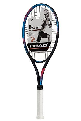 HEAD Ti. Reward Raqueta de Tenis – Raqueta de Equilibrio de luz de Cabeza preencordada 27 Pulgadas – Agarre de 4 1/2 Pulgadas, Azul/Negro