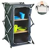 Mojawo – Armario plegable para camping, accesorios para exterior, 2 estantes, 53 x 49 x 95 cm