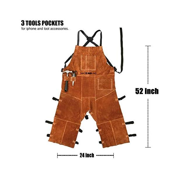 Leather Welding Apron Split Leg for Men 2