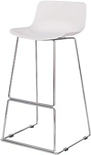Taburetes Altos de Bar Sillas de Comedor Taburetes de bar modernos de la simplicidad blancos Silla del respaldo de hierro Taburete alto para la silla de cena de la cocina Restaurante de la oficina com