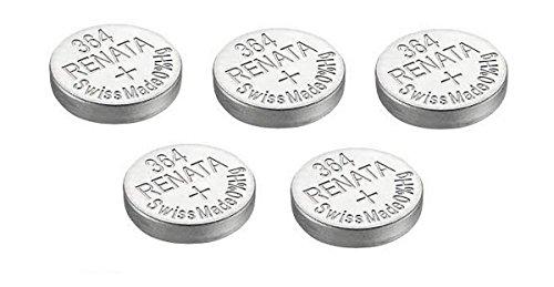 5 x Renata Uhrenbatterien Silber Oxid Hergestellt In Der Schweiz 0% Quecksilber Lange Lebensdauer - Argenté, 5 x 364 ou SR621SW or AG1