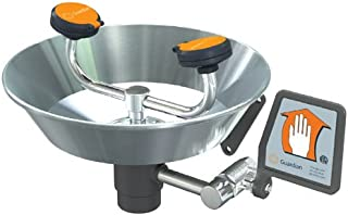 Guardian Equipment G1814P - Eye/Face Wash- Mounted - Wall Mount, Push Flag Activation, ABS Bowl Material