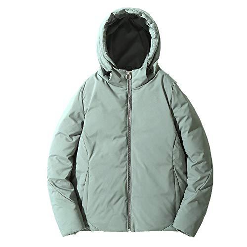 N\P Abrigo corto de invierno con capucha cálido y grueso para mujer