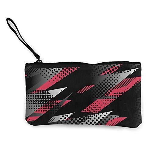 XCNGG Monederos Bolsa de Almacenamiento Shell Abstract Geometric Pattern Fashion Coin Purse Bag Canvas Small Change Pouch Multi-Functional Cellphone Bag Wallet Cosmetic Makeup Bag