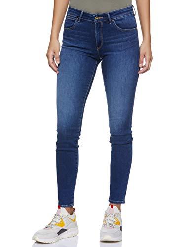 Wrangler Damen Skinny Jeans, Blau (Authentic Blue 85U), 31W / 30L