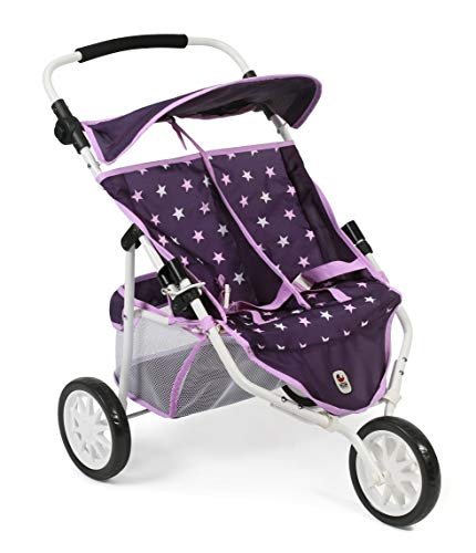 Bayer Chic 2000 697 71 Jogger, Zwillings-Puppenwagen, Stars lila